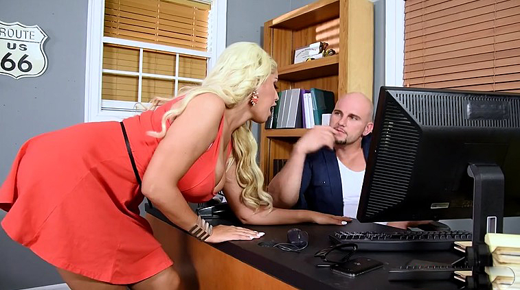 Busty milf is fucked hardcore on office