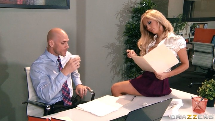 Bald boss fuck mature secretary in the office