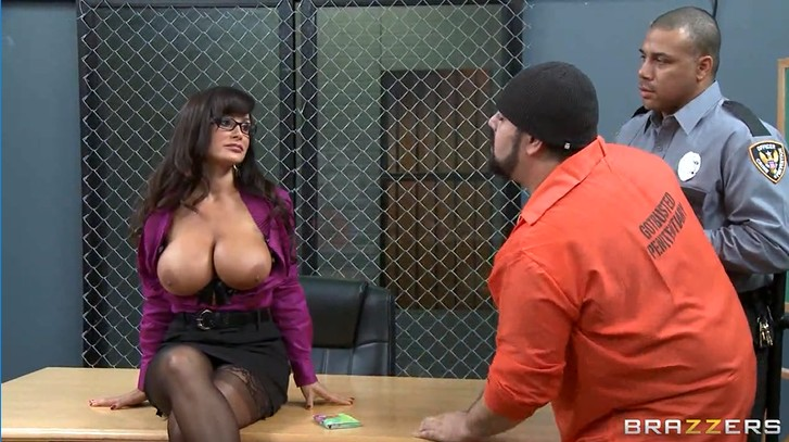 Three convicts fuck busty teacher