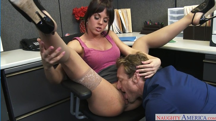 Office Slut in Stockings Fucked in Office