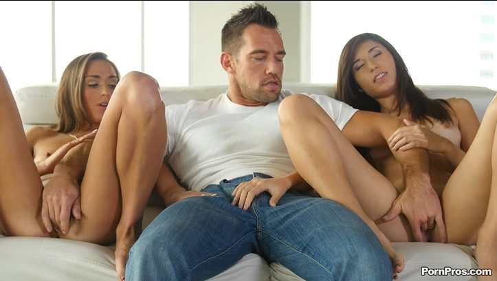 Young Girlfriends In Passionate Threesome Action