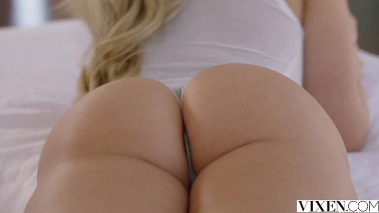 Young Blonde Teen with Big Sexy Butt Playing with a dick