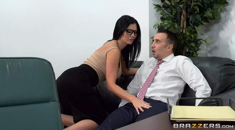 New secretary first day at work gets anal creampie