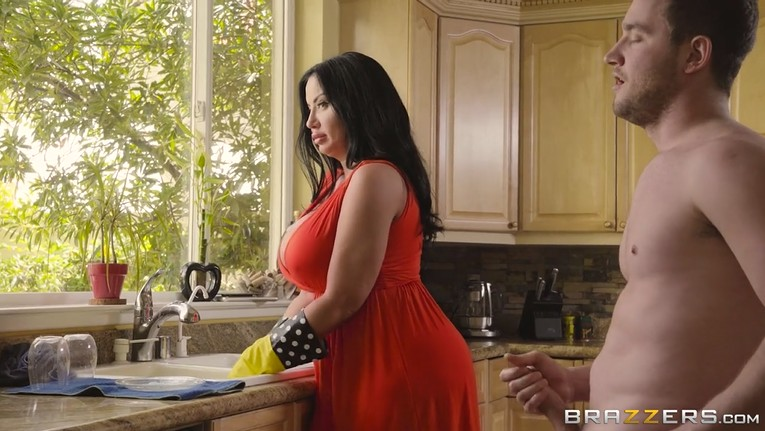 Hot big tits stepmom fucks her stepson