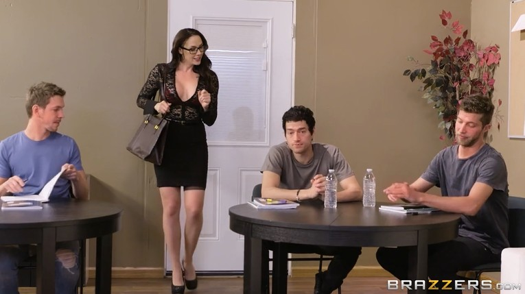 Three Young Students Fuck Mature Teacher