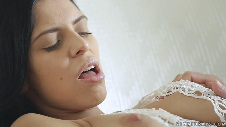 Girl with gorgeous natural tits passionately fucked